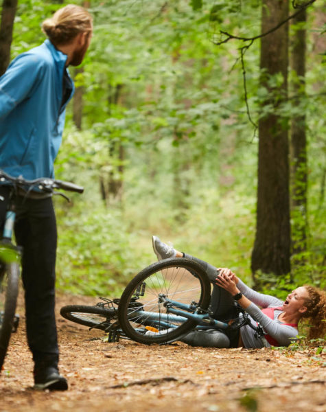 accident in the forest during daily freetime